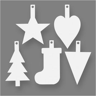 15 Card Christmas cut out shapes
