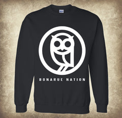 Bonarue Nation Heavyweight Black Crewneck