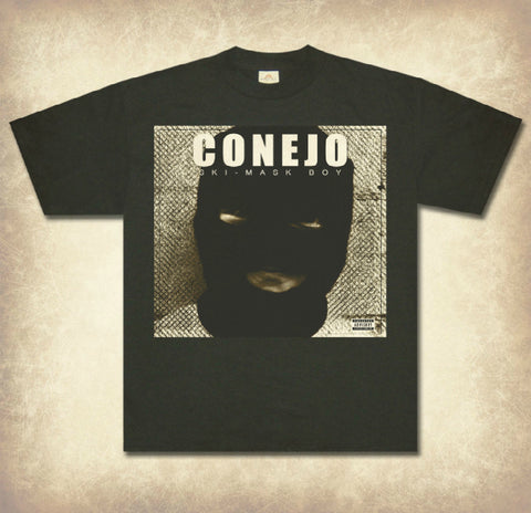 "Conejo ""Ski Mask Boy"" Black Short Sleeve T-Shirt"