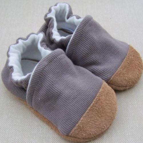 Organic Cotton Slipper - Ribbed Mushroom by Snow & Arrow