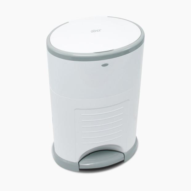 Diaper Dekor Plus Hands Free Diaper Pail - White Dekor Bath + Potty
