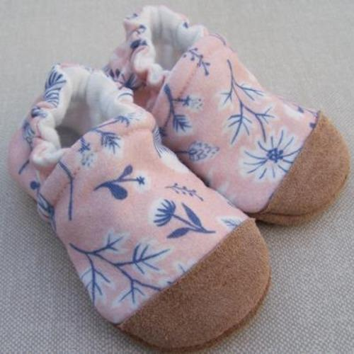 Organic Cotton Slipper - Pink Floral Sugar by Snow & Arrow