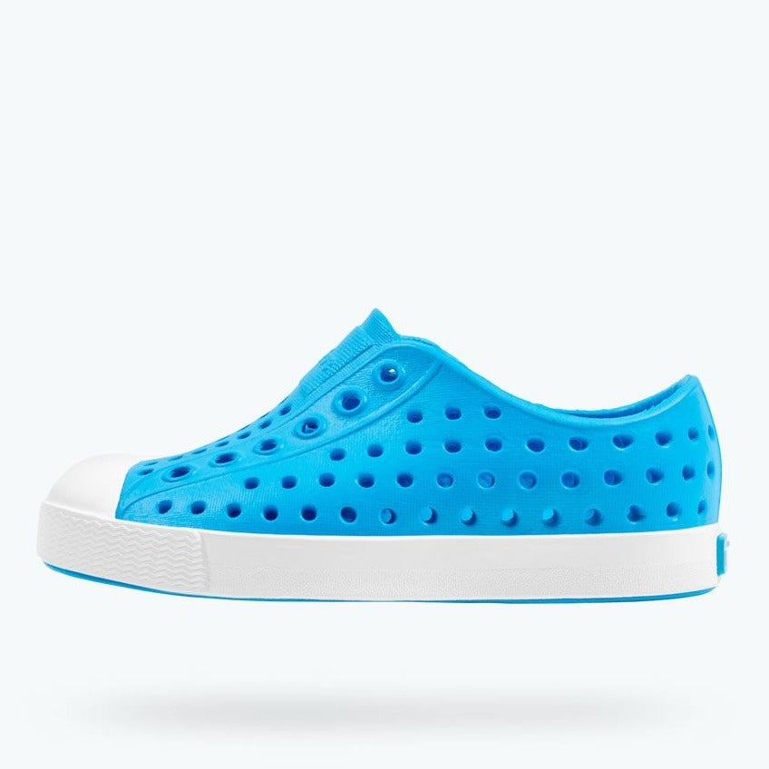 Jefferson Kids Shoes - Vivid Blue/Shell White by Native Shoes
