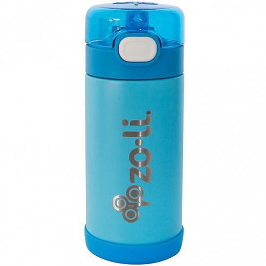 Zoli POW Squeek Stainless Insulated Bottle 10 oz - Blue