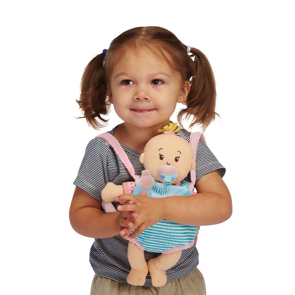 Wee Baby Stella Doll - Peach with Blond Hair by Manhattan Toy