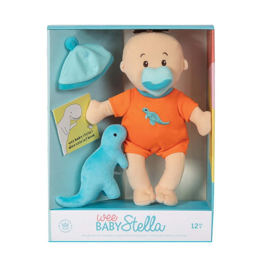 Wee Baby Stella Doll Dino Set Manhattan Toy Toys