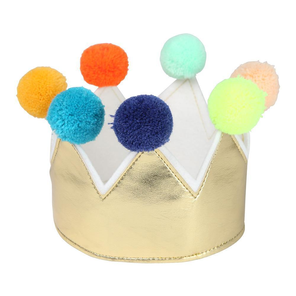 Pom Pom Gold Crown by Meri Meri Meri Meri Accessories