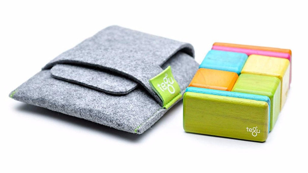 Magnetic Block Set 8 Pc Original Pocket Pouch - Tints by Tegu - Pacifier