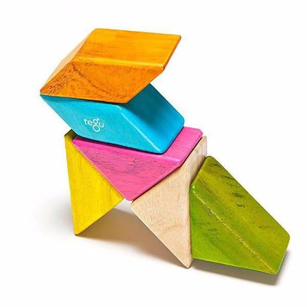 Magnetic Block Set 6 Pc Prism Pocket Pouch - Tints by Tegu - Pacifier