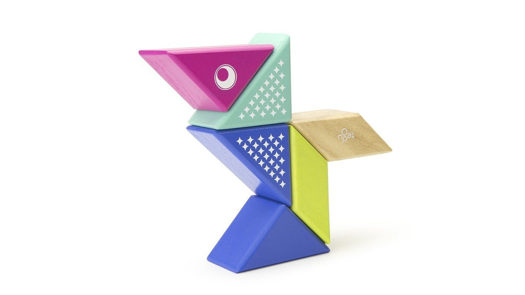 Magnetic Block Set - Hummingbird Travel Pal by Tegu