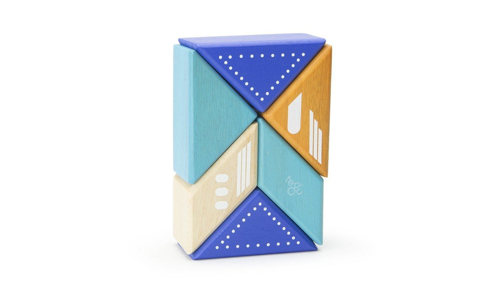 Magnetic Block Set - Plane Travel Pal by Tegu