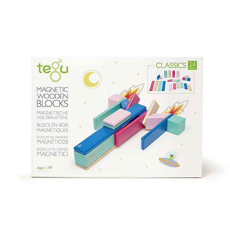 Magnetic Block Set 24 Pc Set - Blossom by Tegu