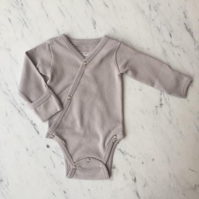 Organic Kimono Bodysuit - Light Gray by Loved Baby Loved Baby Apparel
