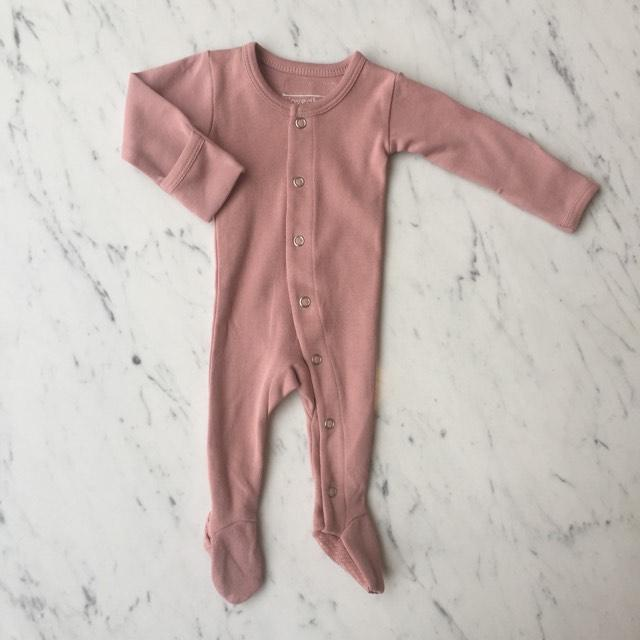Organic Footed Overall - Mauve by Loved Baby Loved Baby Apparel