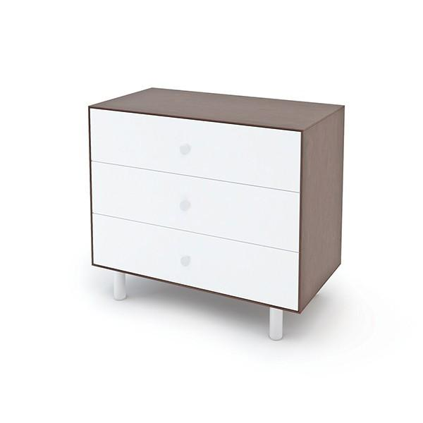 Classic 3-Drawer Dresser - Walnut / White by Oeuf - Pacifier