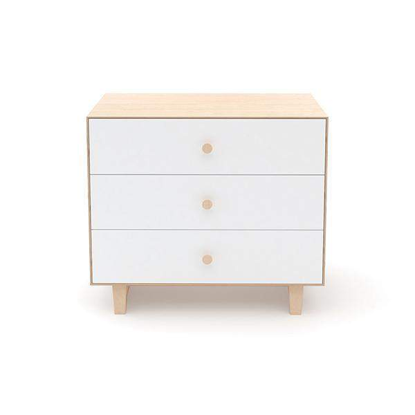 Rhea 3 Drawer Dresser - Birch / White by Oeuf Oeuf Furniture