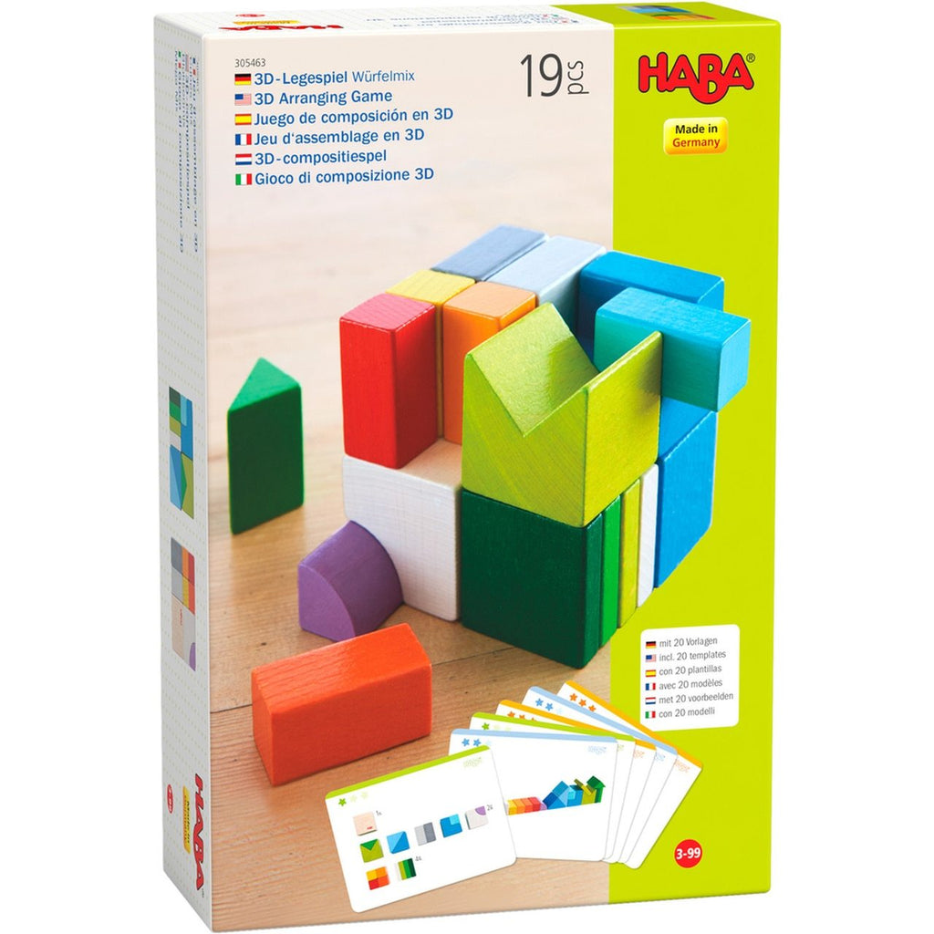 Wooden Blocks - 3D Arranging Game Chromatix by Haba