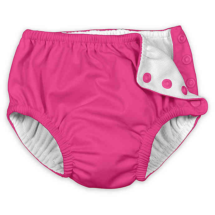 Ultimate Snap Reusable Absorbent Swim Diaper - Hot Pink by iPlay iPlay Apparel
