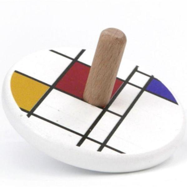 Spinning Tops in Mondrian by Little Poland Gallery Little Poland Gallery Toys
