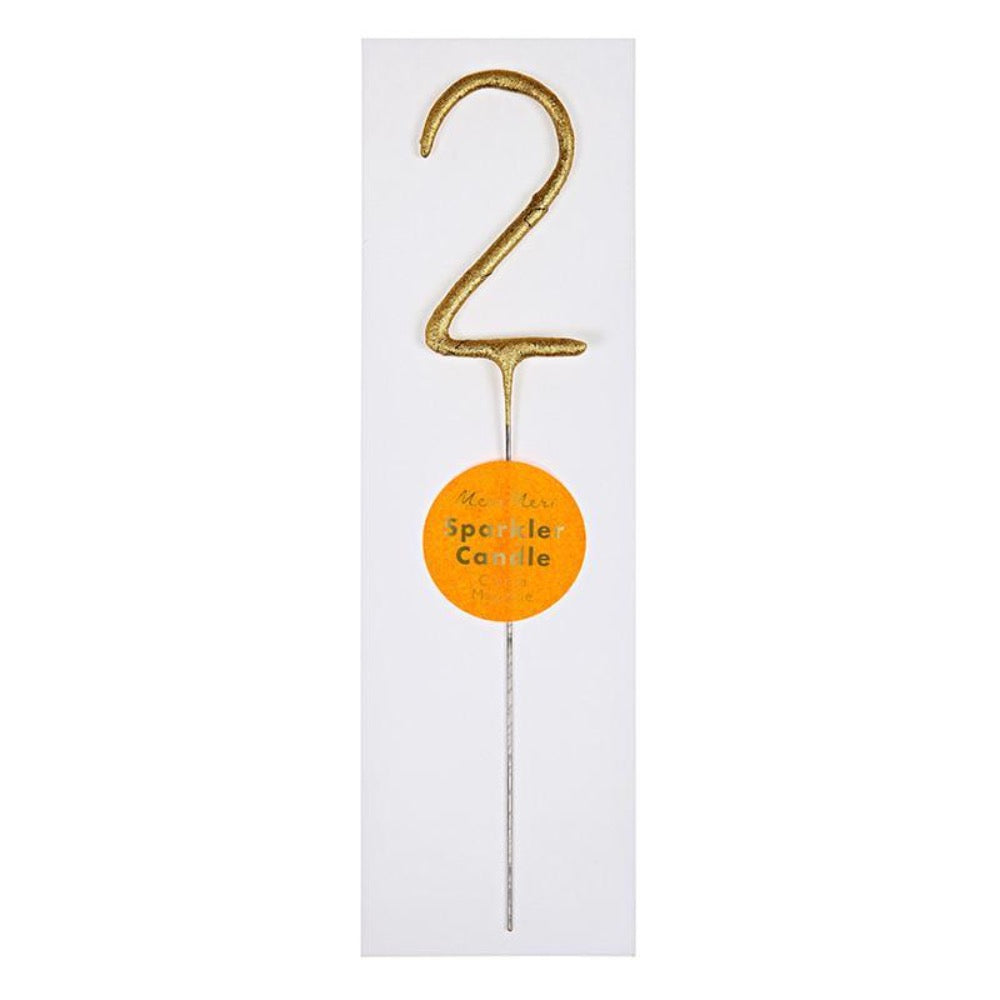 Sparkler Number Birthday Candle - 2 by Meri Meri - Pacifier