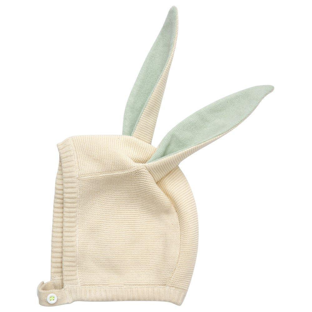 Mint Bunny Baby Bonnet by Meri Meri