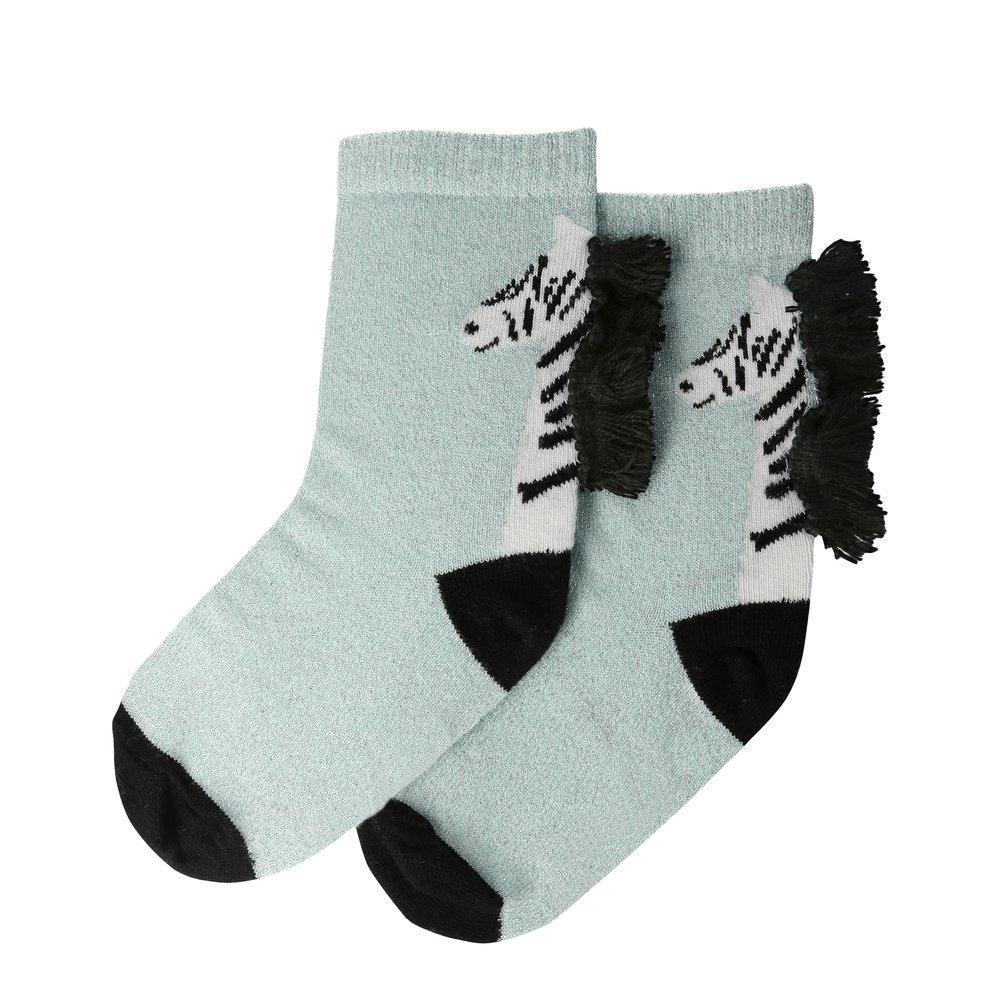 Zebra Sparkle Socks (3-5yrs) by Meri Meri
