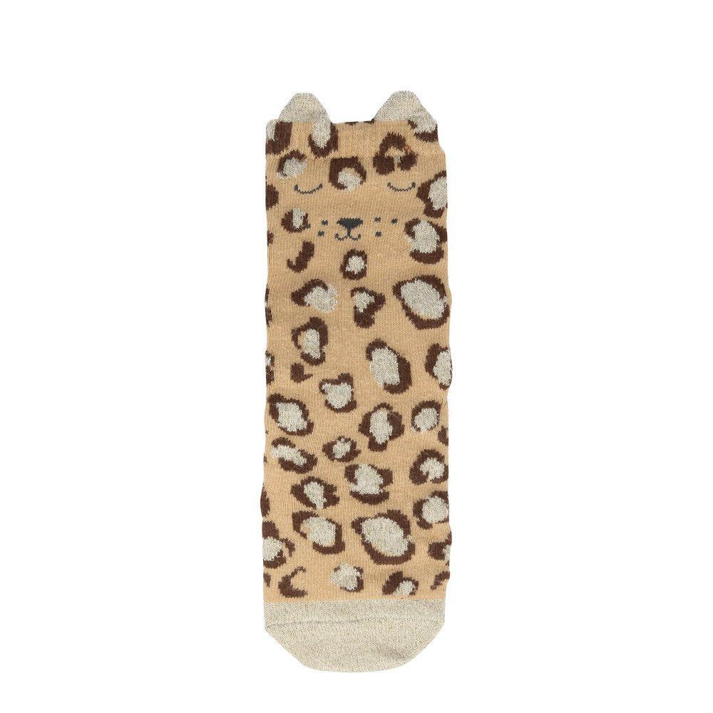 Leopard Sparkle Socks (3-5yrs) by Meri Meri Meri Meri Accessories
