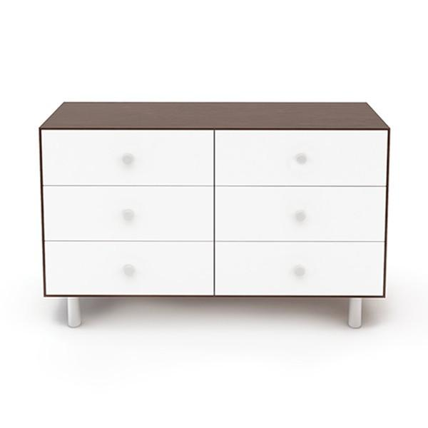 Classic 6 Drawer Dresser - Walnut / White by Oeuf Oeuf Furniture