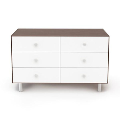 Classic 6-Drawer Dresser - Walnut / White by Oeuf - Pacifier