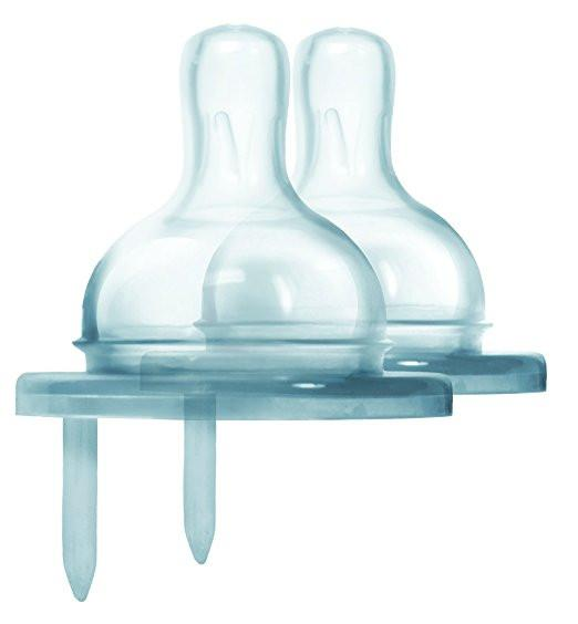 Medium Flow Silicone Nipple 2 Pack by Pura - Pacifier