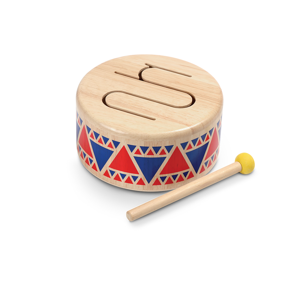 Solid Wooden Drum by Plan Toys