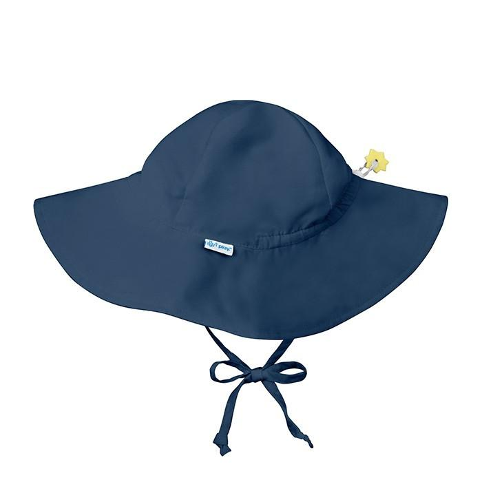 Solid Brim Sun Hat - Navy by iPlay - Pacifier
