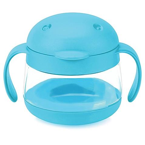Ubbi Tweat Snack Container - Robin's Egg Blue - Pacifier