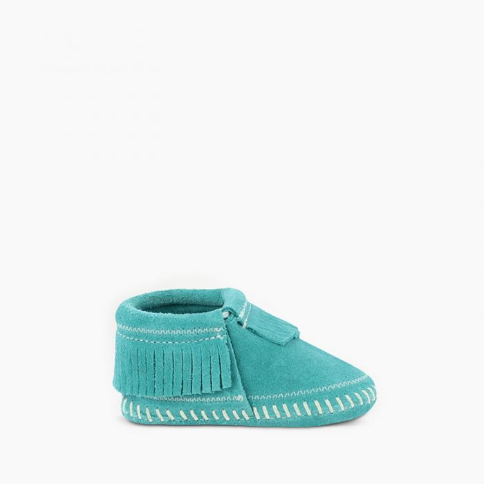 Riley Bootie - Turquoise by Minnetonka Moccasin Minnetonka Moccasin Co. Shoes