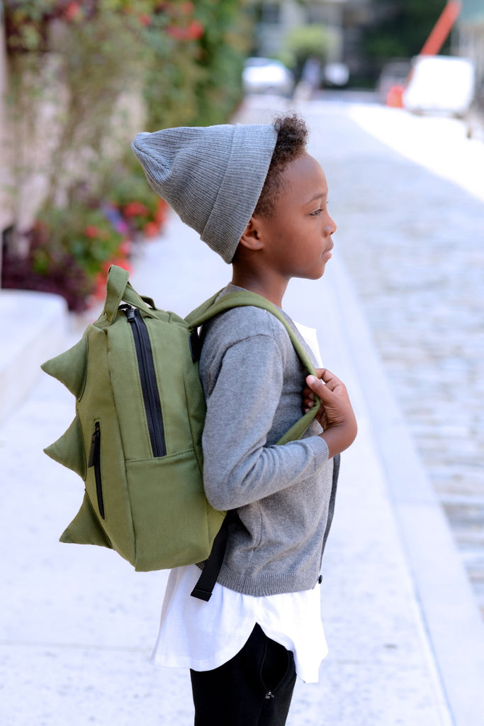 Mini Dino Canvas Backpack - Army by 7AM Enfant