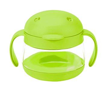 Ubbi Tweat Snack Container - Green - Pacifier