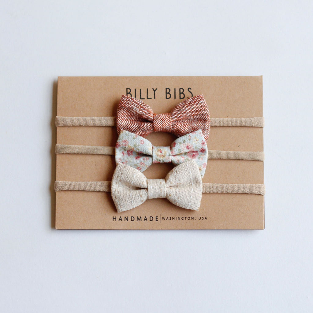 Colette Bow Headbands - Set of 3 Billy Bibs Accessories