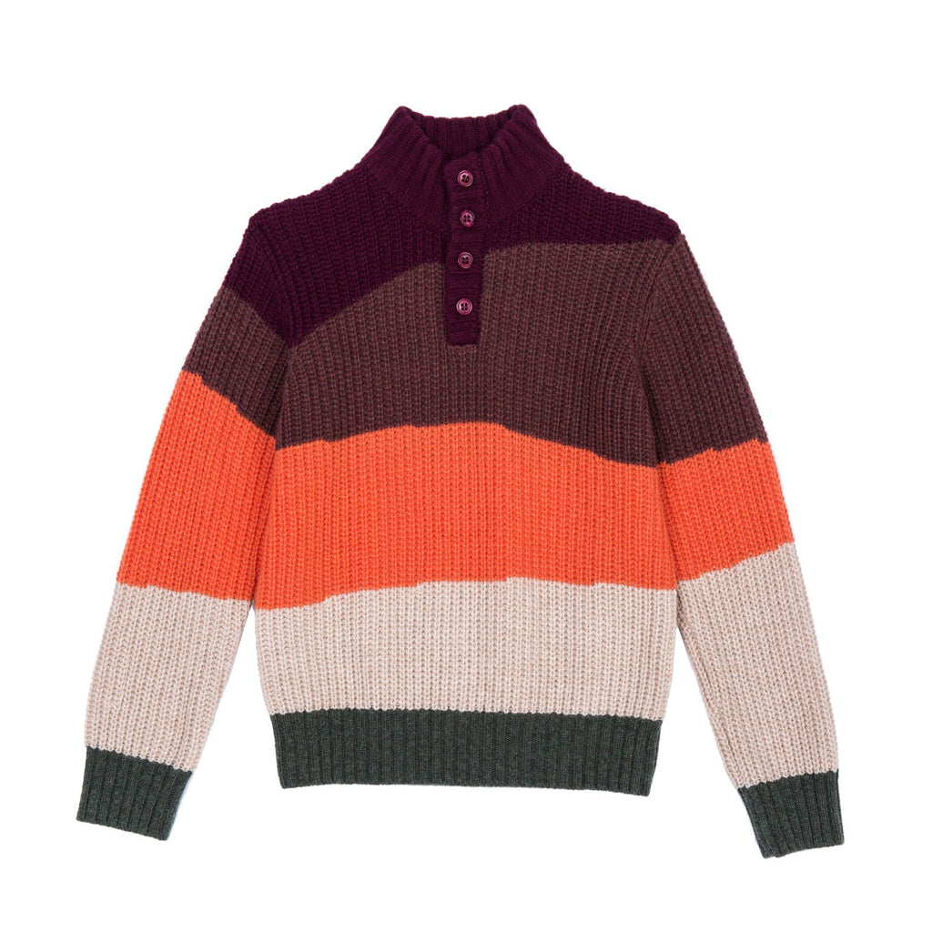 Stuart Multi Autumn Stripe Jumper by Velveteen