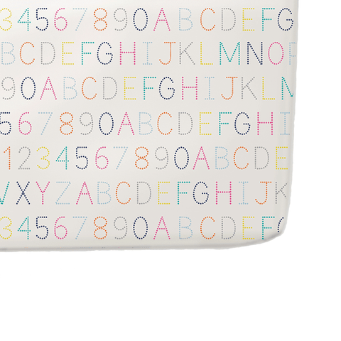 Alphabet Crib Sheet by Pehr