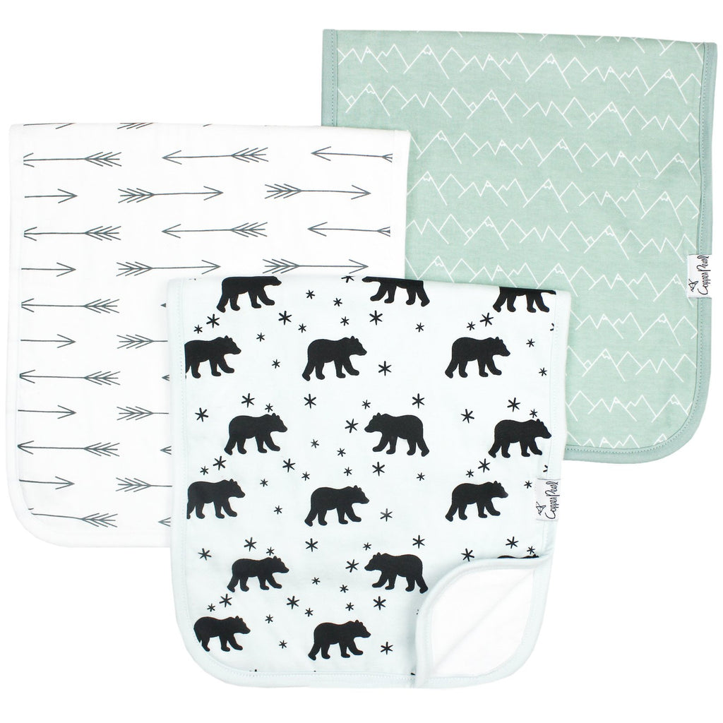 Premium Burp Cloths - Archer by Copper Pearl
