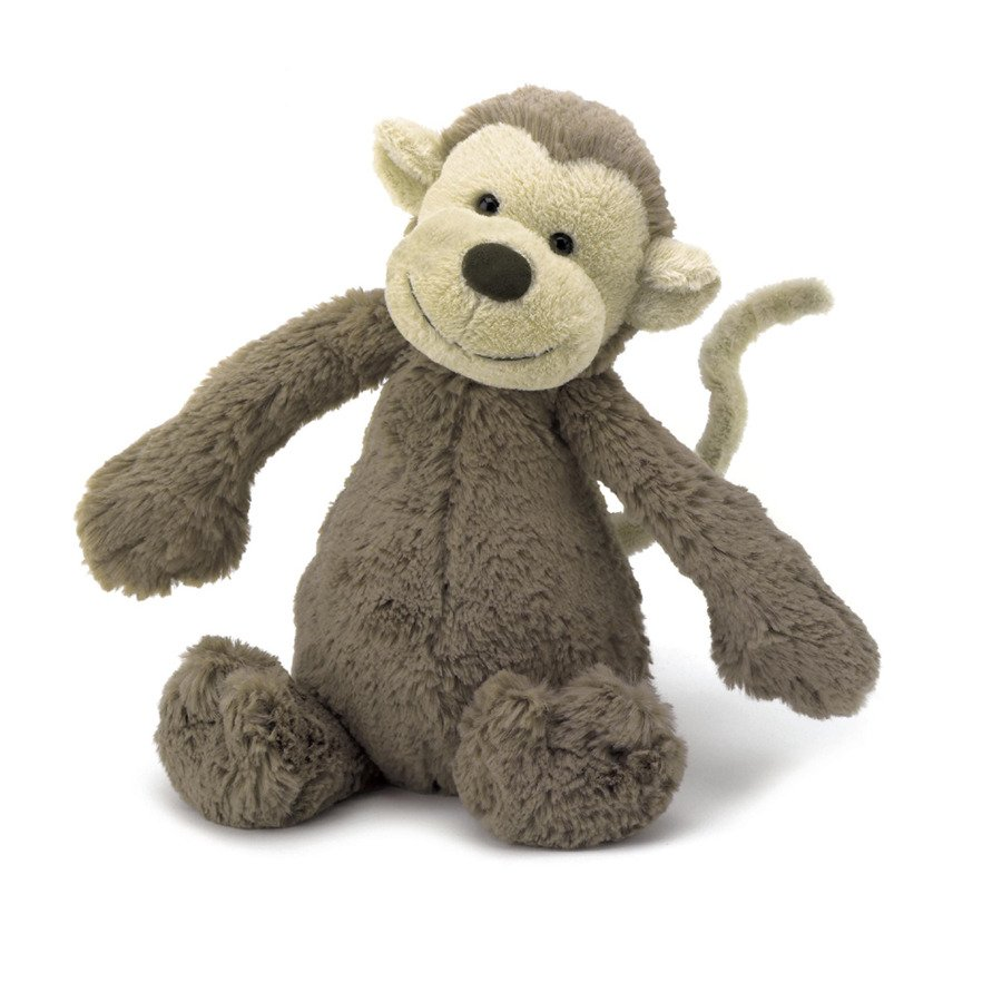 Bashful Monkey - Medium 12 Inch by Jellycat Jellycat Toys