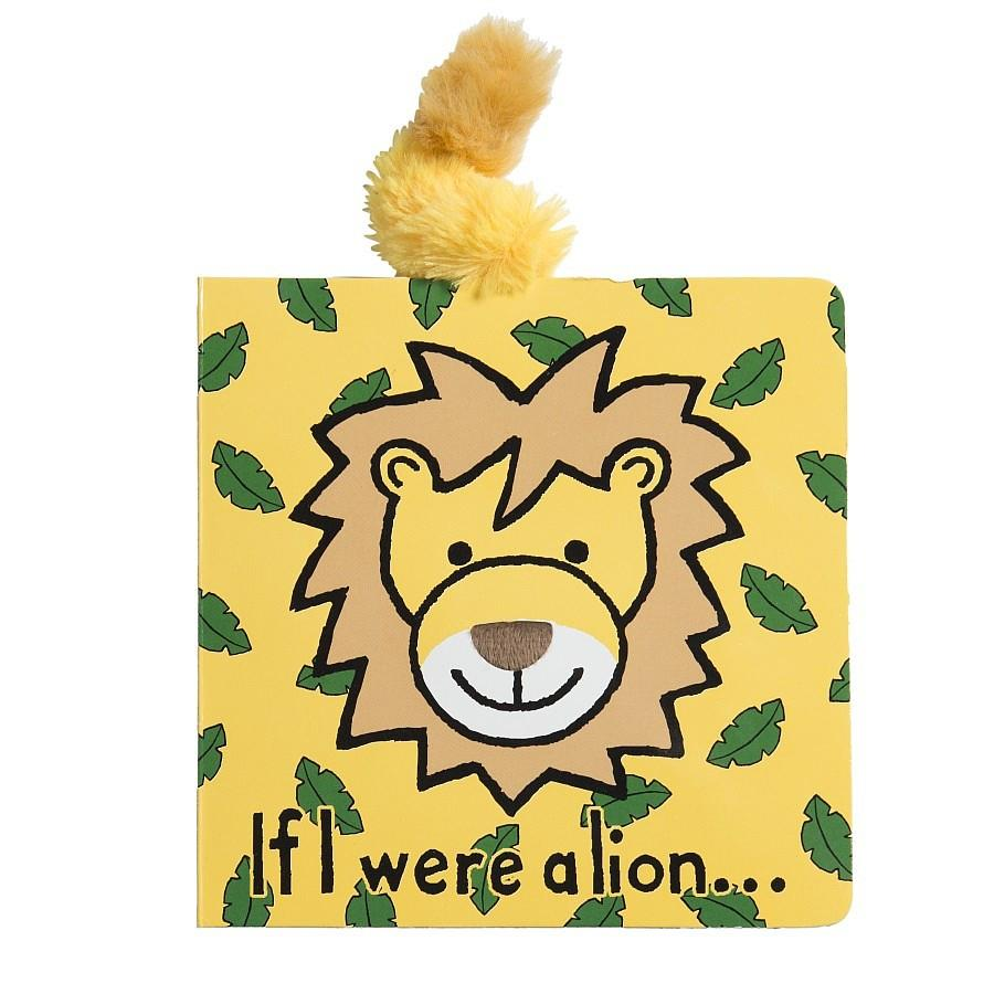 If I Were A Lion - Board Book by Jellycat - Pacifier