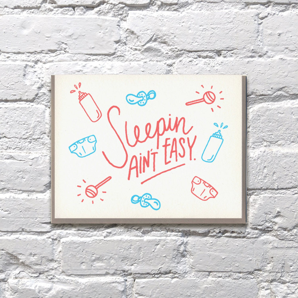 Sleepin' Ain't Easy Card by Bench Pressed