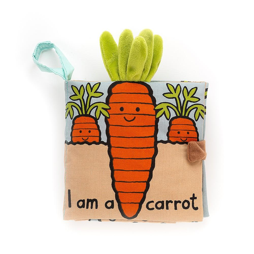 I Am a Carrot - Crinkly Fabric Book by Jellycat
