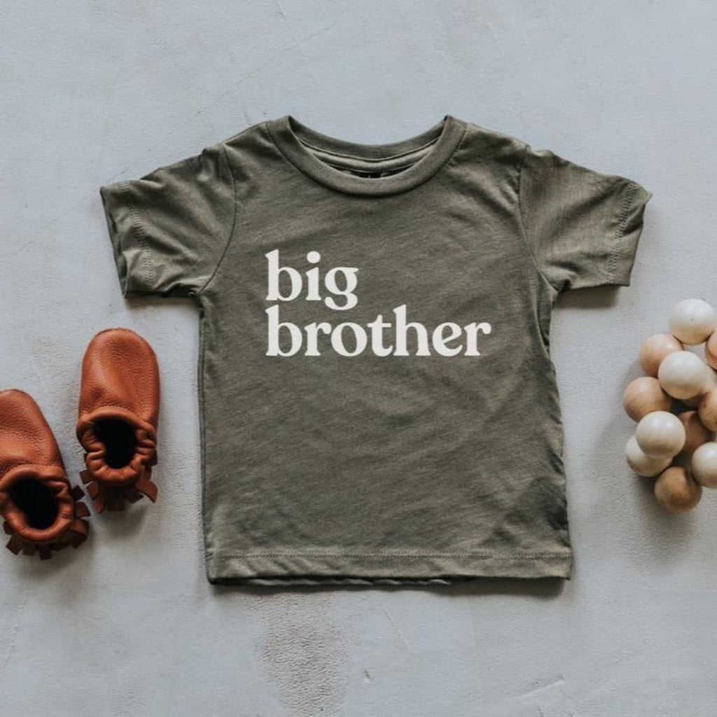 Big Brother Tee - Olive by Gladfolk