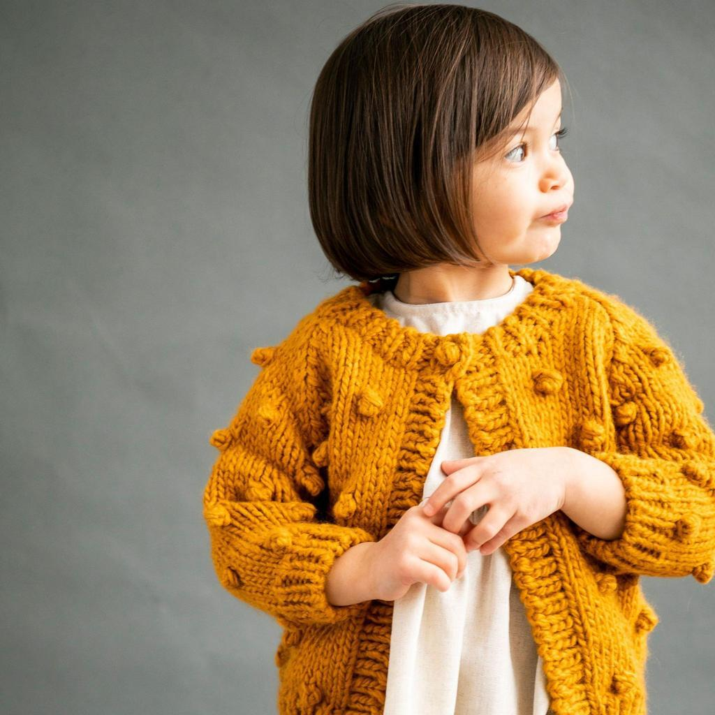 Popcorn Sweater - Mustard by The Blueberry Hill