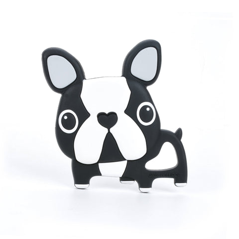 Boston Terrier Teether - Black by Loulou Lollipop