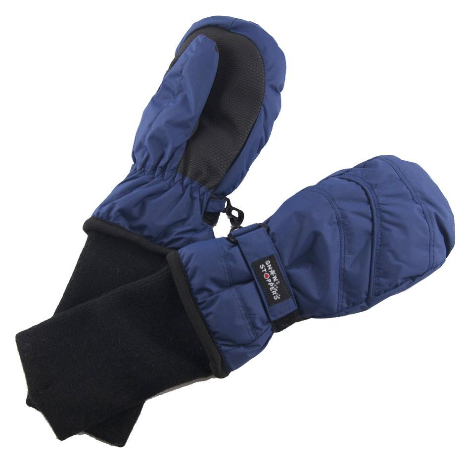 Waterproof Stay-On Mittens - Navy by SnowStoppers
