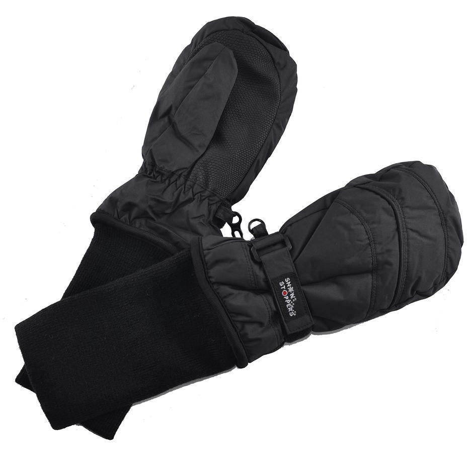 Waterproof Stay-On Mittens - Black by SnowStoppers