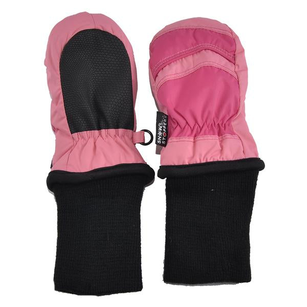 Waterproof Stay-On Mittens No Thumb - Coral Pink by SnowStoppers